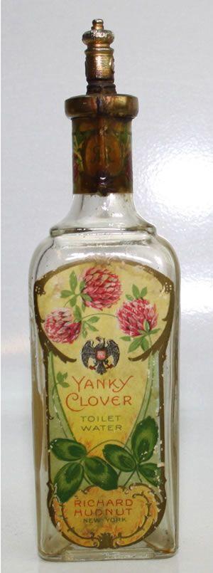Richard Hudnut Yanky Clover Toilet Water perfume bottle.  No date