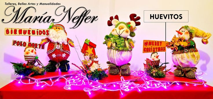 Navidad con Huevitos. Decorativos muñecos navideños en un tamaño indicado para una mesita.