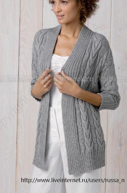 110 best chaquetas images on Pinterest | Patrones de punto, Abrigos ...