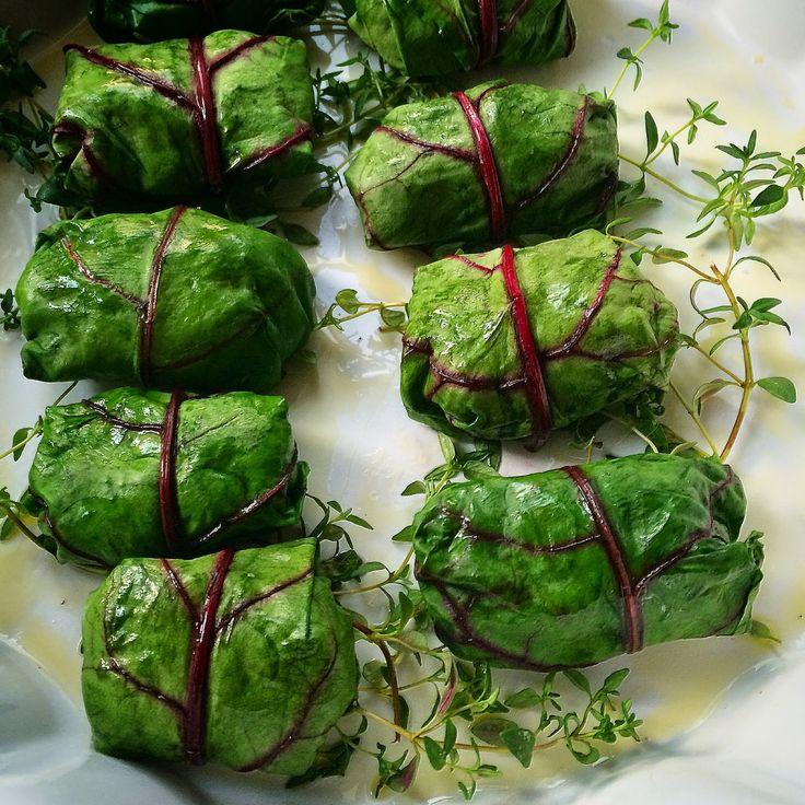 Kuchnia raz! : Gołąbki z liści botwinki, cielęciny i kaszy jaglanej