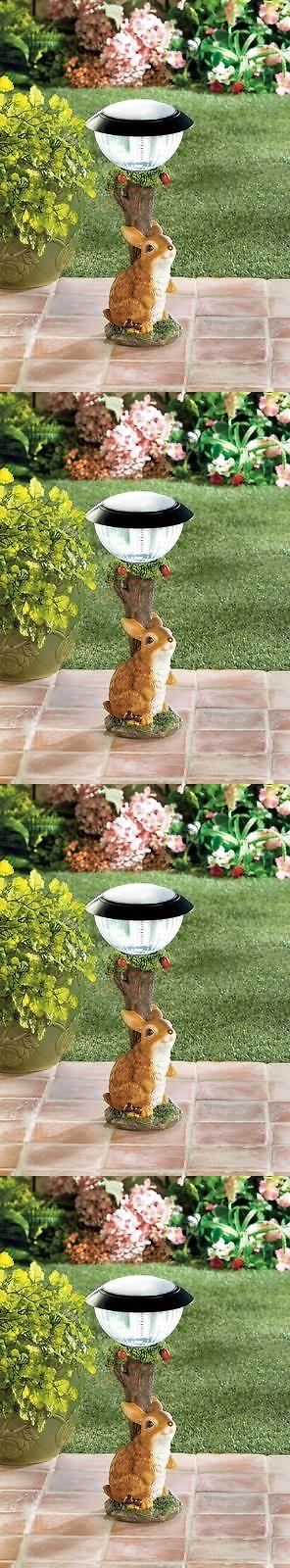farm and garden: Rabbit Apple Tree Solar Power Light Path Yard Garden Patio Deck Outdoor Lamp BUY IT NOW ONLY: $45.34