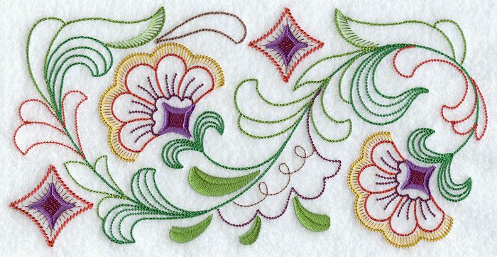 bed sheet embroidery patterns 3