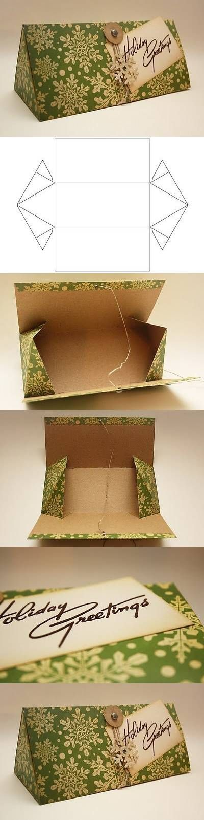#diy, #gift box, template, instructions