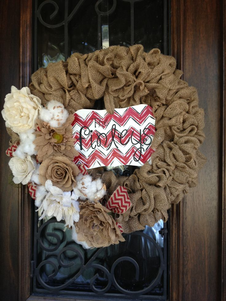 Burlap Craft Ideas Pinterest