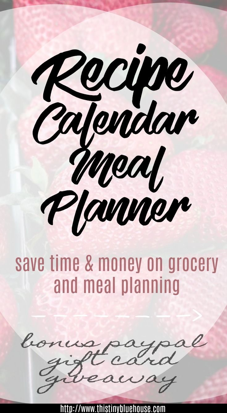 Pin Recipe Calendar - Meal Planner to Pinterest to share the word about how awesome this app is!