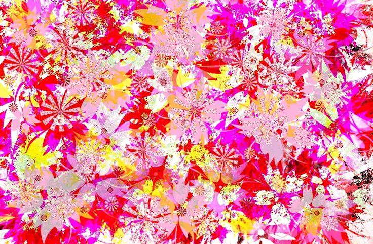PINK WAHINE - created by Amanda Osborne Fabric Pattern