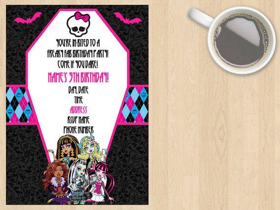 Digital Download Monster High Birthday by DesignsByMoniqueAU