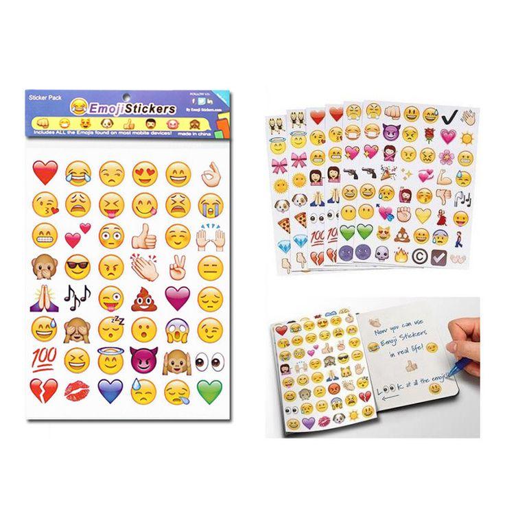 4 قطعة/الوحدة الرموز التعبيرية التعبير تحتوي 96 ملصقات الملصقة على الحائط الرموز التعبيرية وجه 50% ٪
