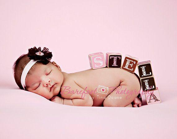 Newborn Headband Baby Girl Headband Pink and by spoiledNsweet, $8.95