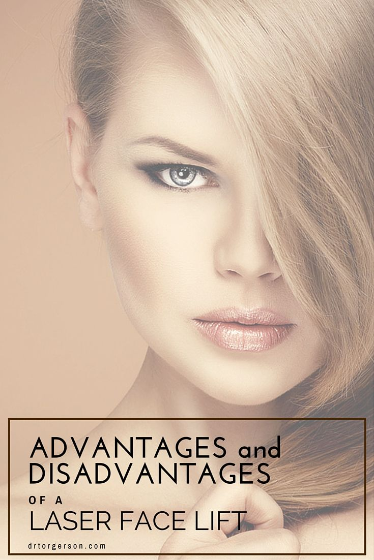 Advantages and Disadvantages of a Laser Face Lift. There are definite advantages as well as disadvantages when substituting laser technology for traditional facial cosmetic surgery. Read More About Them: http://drtorgerson.com/surgical-procedure/facelift-toronto/advantages-and-disadvantages-of-a-laser-face-lift/ #facelift   #laser   #rejuvenation  #LaserFaceLift #cosmeticsurgery