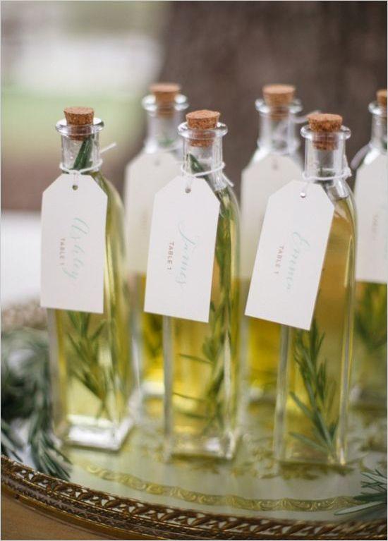 segnaposti olio aromatizzato