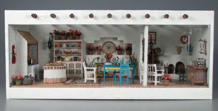 Southwestern Kitchen and Sitting Room    miniature room    1976-2008 via The Strong