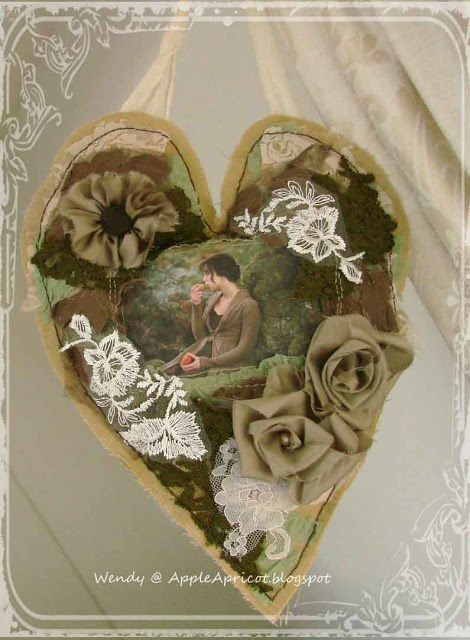 fabric heart by AppleApricot