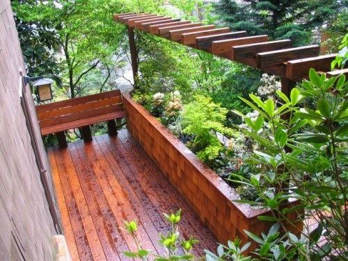 Captivating Deck Garden Planter