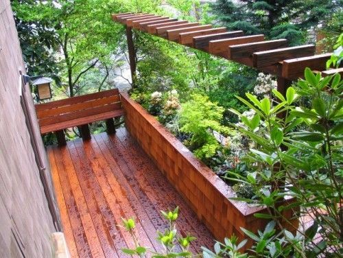 PergolaGardens Ideas, Contemporary Patios, Outdoor, Boxes Design, Herbs Gardens, Exteriorscap Llc, Decks Planters, Planters Boxes, Planter Boxes