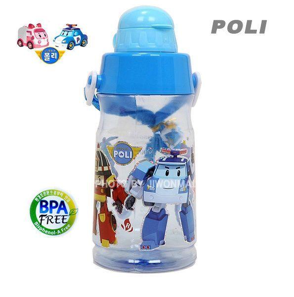 Robocar Poli Tv Character Plastic Kids Water Bottle 500Ml Gym School Boys Girls