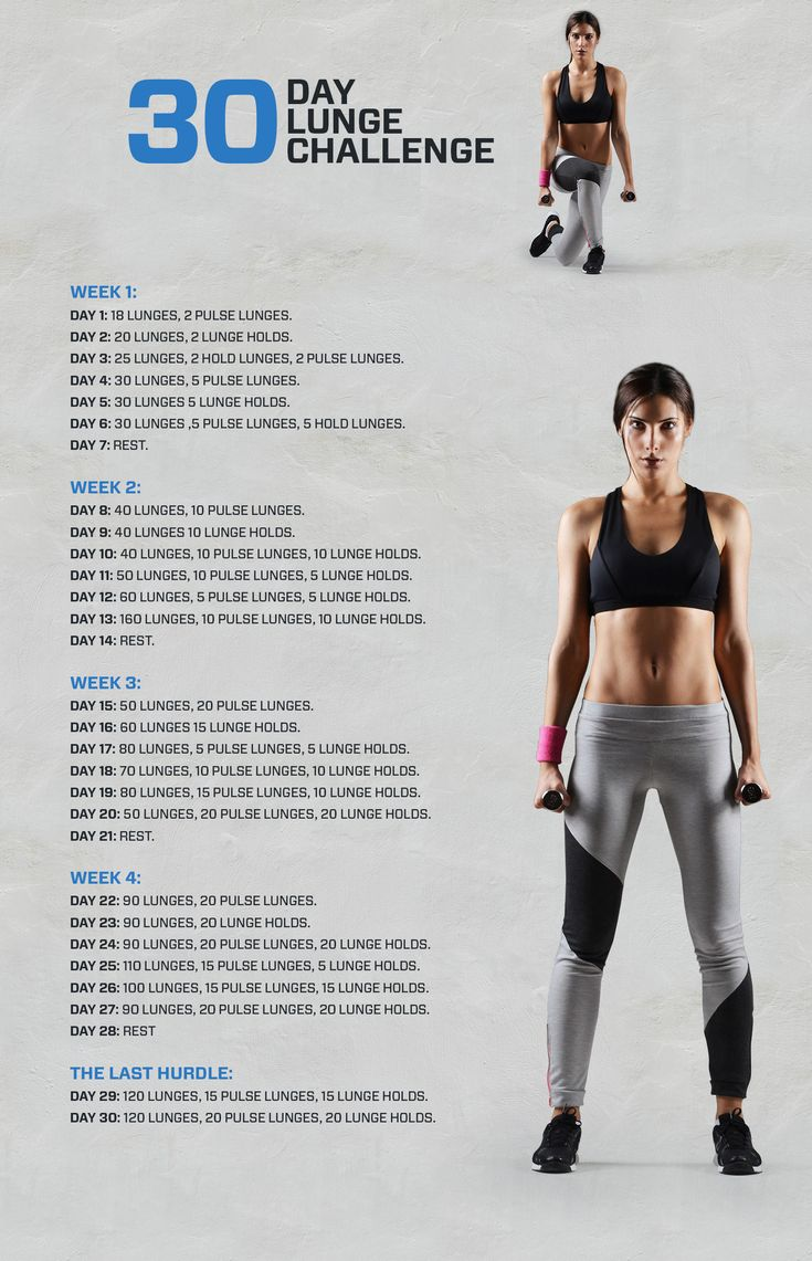 Are you looking to lose fat and build slim toned legs? Get toned glutes and toned thighs with this 30 day lunge challenge!