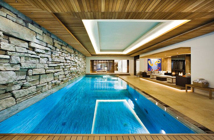 I've always liked the idea of a basement swimming pool :) And to the right a lounge/ billiards room