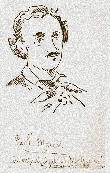 Edgar Allan Poe ~ Il Corvo | Poesia illustrata da Manet