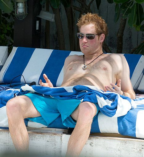Prince Harry Shirtless with Medallion Necklace in Miami: Pictures - Us Weekly