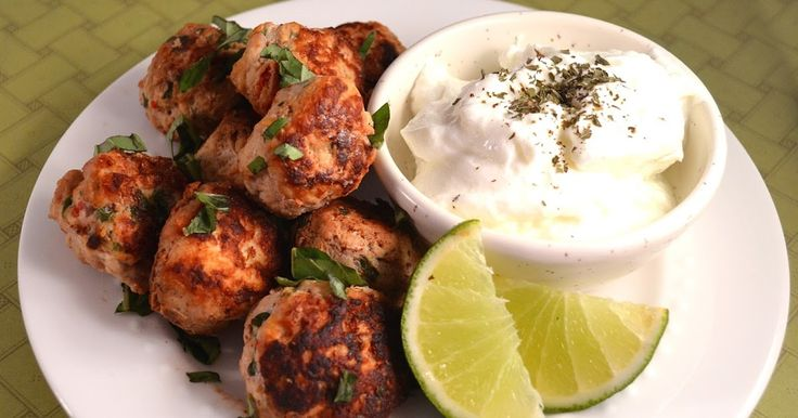 Persian meatballs with Lime Whipped Yogurt, couscous recipe