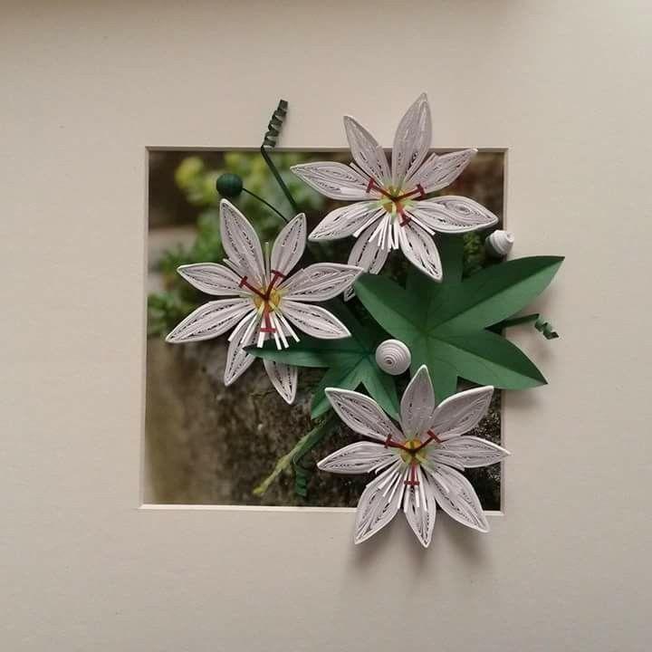Открытки, открытка из бумаги лилию