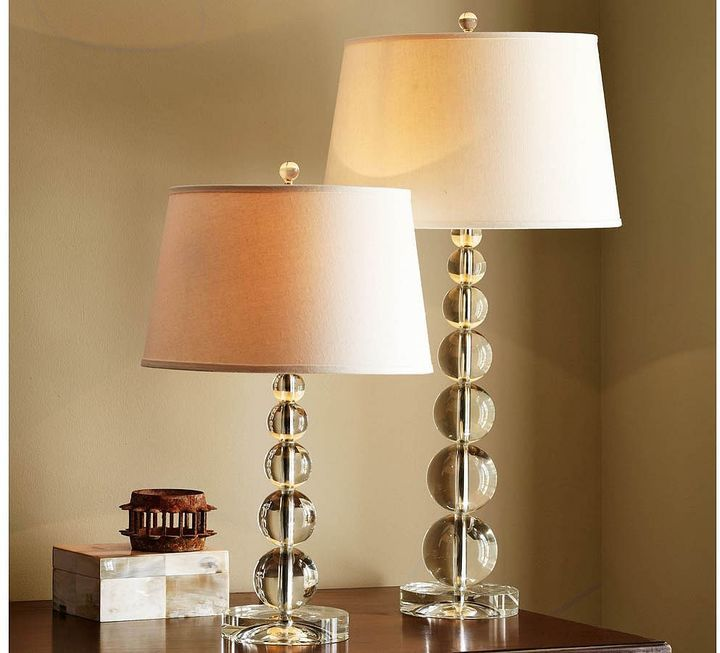 Stacked crystal table bedside lamps just like the old ones so pretty