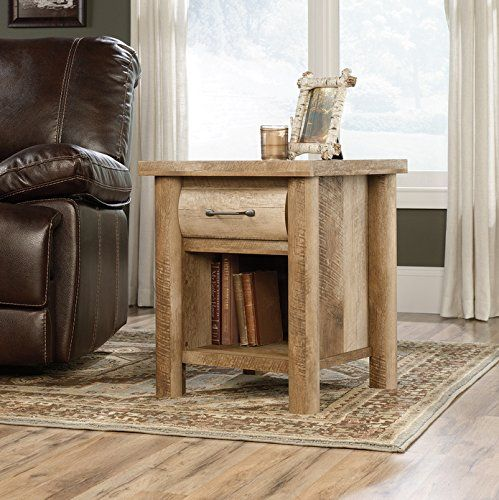 Sauder Woodworking 416719 Boone Mountain Living Room Log Cabin Side Table Oak ** You can find more details by visiting the image link.Note:It is affiliate link to Amazon.