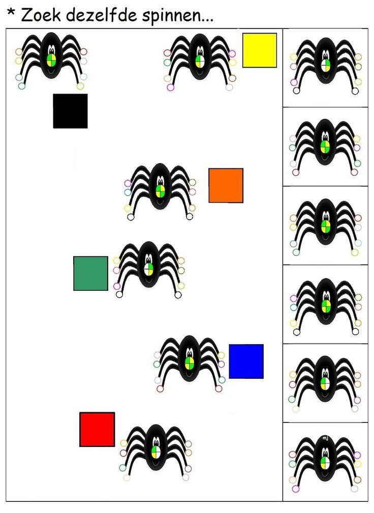 * Zoek dezelfde spinnen..... 1-2