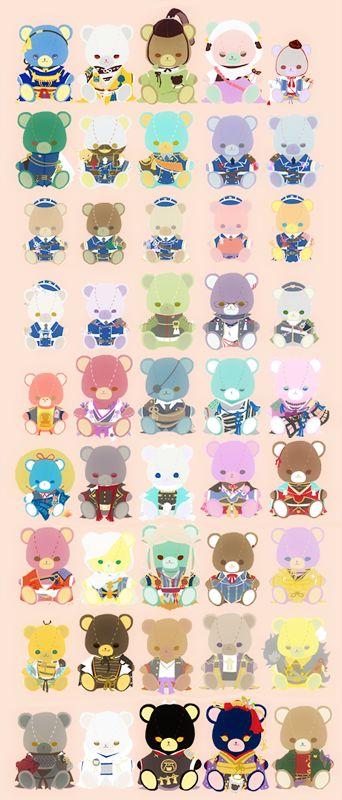 埋め込み画像への固定リンク Touken Ranbu Teddy bears