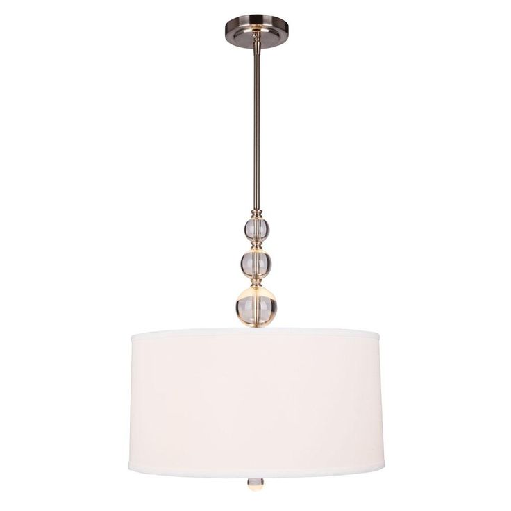 Hampton Bay Laurel Hill 3 Light Brushed Nickel Pendant