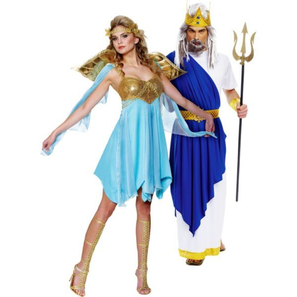 victory goddess and neptune couples costumes - Poseidon Halloween Costume