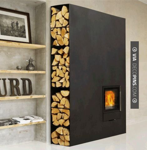 So good! - The Cubic wood burning fireplace by Wittus. Minimal, sleek and incredibly utilitarian with enough refinement to go anywhere and everywhere.   CHECK OUT MORE FIREPLACE IDEAS AT DECOPINS.COM   #fireplace #fireplace #hearth #fireplaces #brickfireplace #firepit #fire #firewood #indoorfireplace #outdoorfireplace