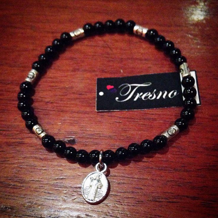 Black Onyx, 4mm bracelet
