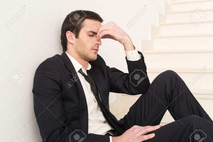Image result for businessman tired depressed