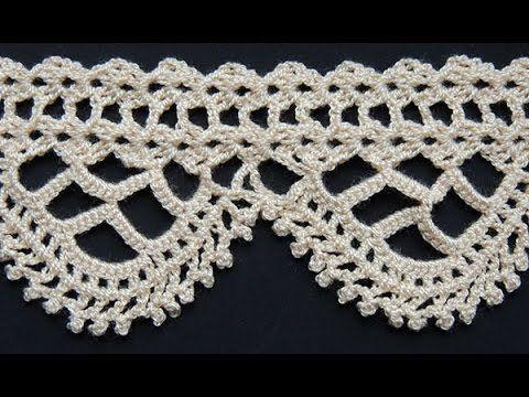 Puntillas o bordes crochet para manteles / 3 Tutoriales | Crochet y Dos agujas