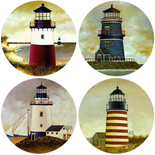 Lighthouses Set of 4 Coasters