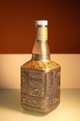 429 best images about jarrones vasijas con t cnica on pinterest ceramics bottle and eggshell - Jarrones plateados ...