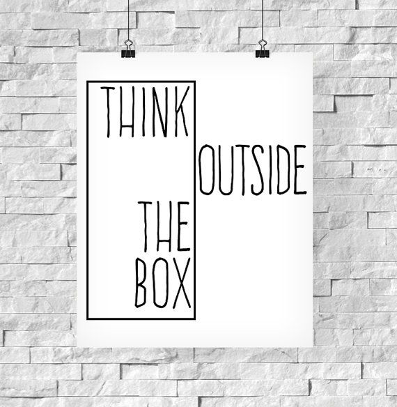 Printable Art Inspirational Print Think Outside von paperblooming