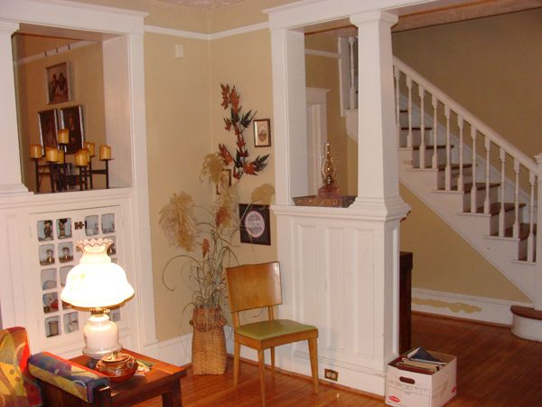 The half wall idea is for my kitchen livingroom area only - Pictures of columns in living room ...