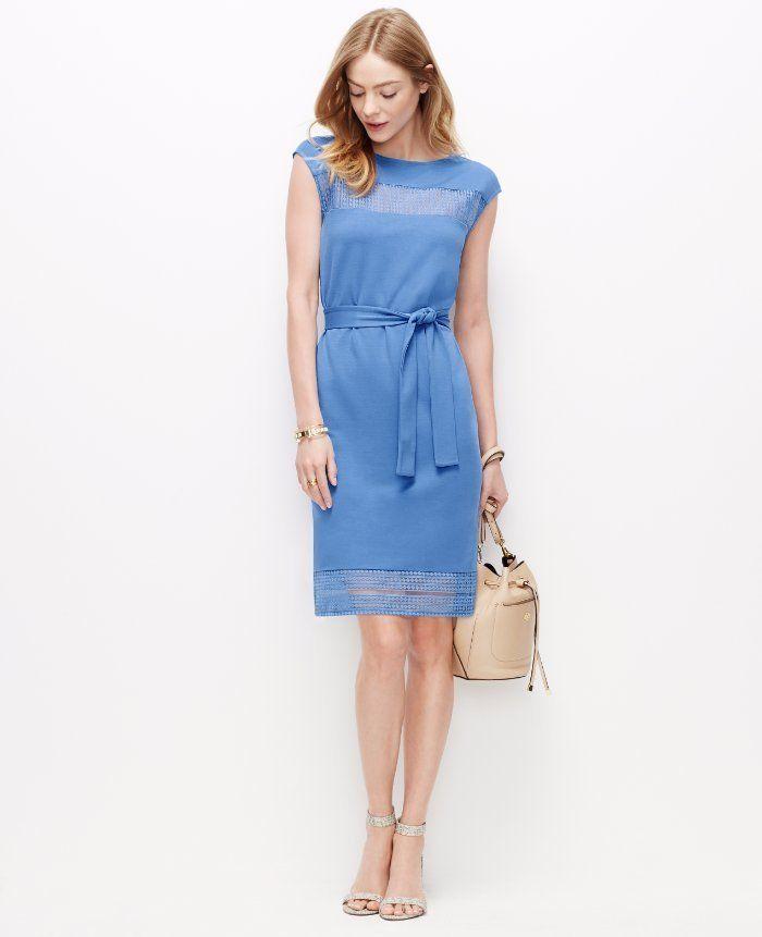 Ann taylor lace one shoulder dress