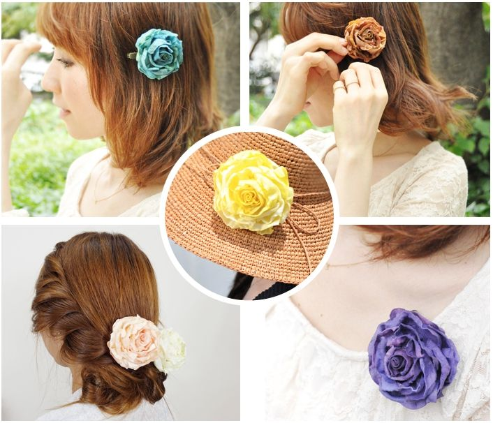 Luculia Rose Corsage is a multi-purpose accessory,it is designed for two ways : Corsage and Hair Pin Small Size