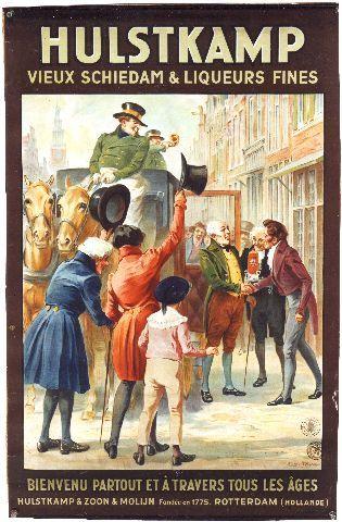 Hove - Hulstkamp vieux Schiedam - circa 1900 vintage poster