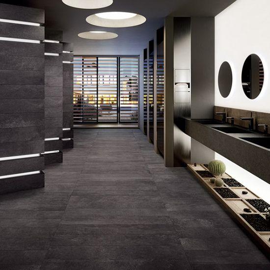 View Hill matt tile in cinder. Size : 600mm x 600mm