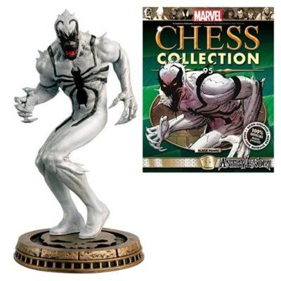 Marvel Amazing Spider-Man Anti-Venom Black Pawn Chess Piece with Collector Magazine #95
