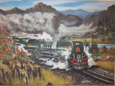 """Saatchi Art Artist FRANS BOTHA; Painting, """"GMAM GARRET ROVOS STEAM TRAIN"""" #art"""