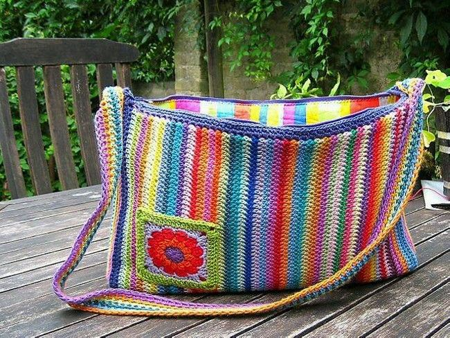 Colorful Crochet Bags