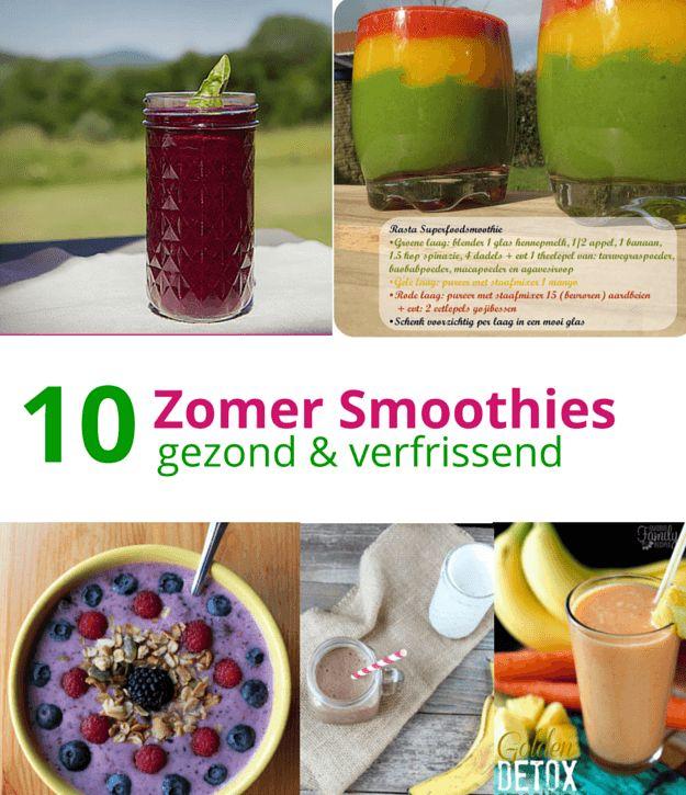 Op zoek naar gezonde smoothies recepten? Vind hier 10 van mijn favoriete smoothies. Super lekker, gezond en makkelijk te maken