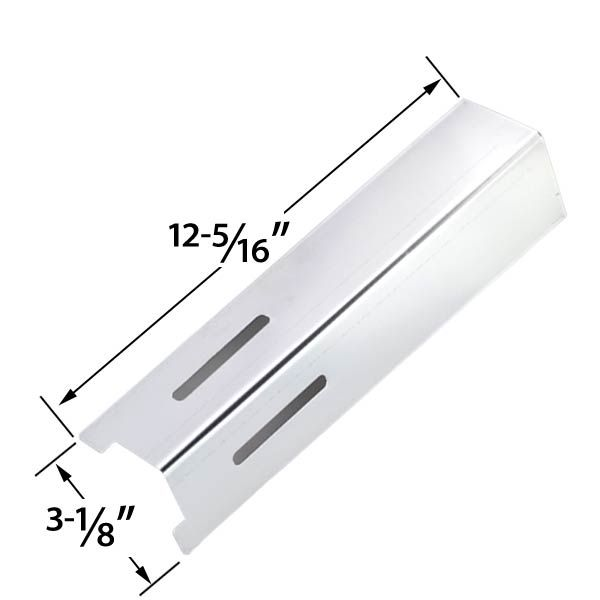 REPLACEMENT STAINLESS HEAT PLATE FOR BBQ GRILLWARE GSF2616, 41590, LIFE@HOME GSF2616J, GSF2616JB, GSF2616JBN, GSF2616JC & UNIFLAME NSG4303, NSG3902B, PATRIOT GAS GRILL MODELS Fits Compatible Models : GSF2616-41590
