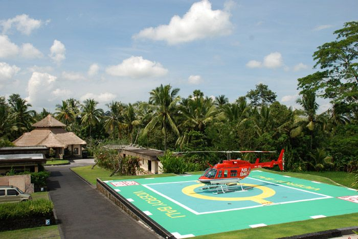Heli pad at Viceroy Bali Ubud (luxurious!)